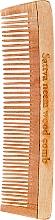 Perfumería y cosmética Peine de madera, 19 cm - Sattva Neem Wood Comb