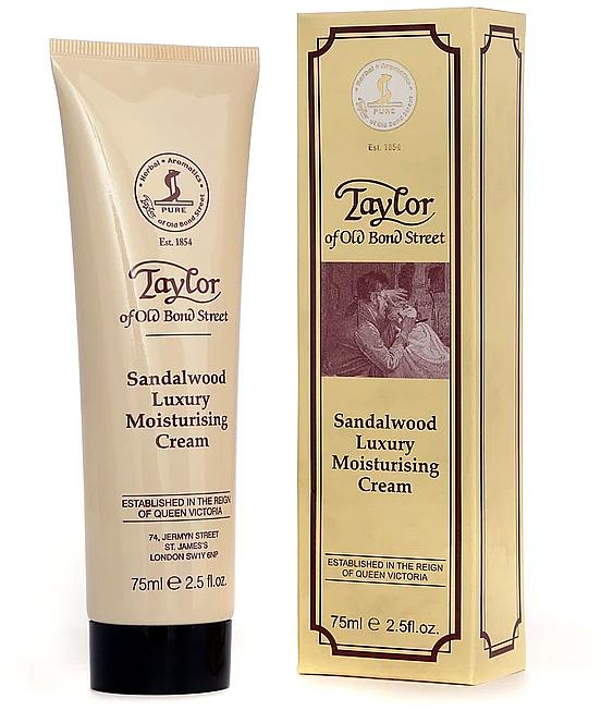 Crema para rostro y cuerpo hidratante con aroma a sándalo y pachulí - Taylor of Old Bond Street Sandalwood Moisturising Cream