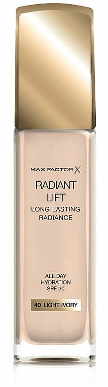 Base de maquillaje hidratante de larga duración, SPF 30 - Max Factor Radiant Lift Foundation