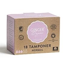 Perfumería y cosmética Tampones normales de algodón orgánico, 18uds. - Ginger Organic