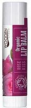 Perfumería y cosmética Bálsamo labial orgánico, sabor cacao y rosa - Wooden Spoon Lip Balm Rose Kiss