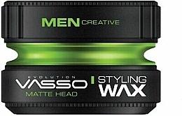 Perfumería y cosmética Cera para cabello de fijación fuerte, acabado ultramate - Vasso Professional Hair Styling Wax Pro-Matte Head