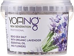 Perfumería y cosmética Sales de baño del Mar Muerto con lavanda orgánica - Yofing Dead Sea Salt With Organic Lavender Essensial Oil And Flowers