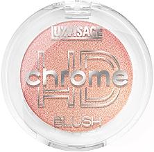 Perfumería y cosmética Colorete facial en polvo compacto, efecto brillante - Luxvisage HD Chrome Blush
