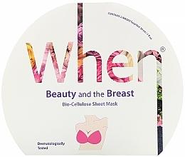 Perfumería y cosmética Mascarilla para busto de tejido con biocelulosa, extracto de granada y colágeno - When Beauty And The Breast Bio-Cellulose Mask
