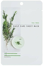 Perfumería y cosmética Mascarilla facial de tejido con extracto de árbol de té - Eunyul Daily Care Mask Sheet Tea Tree