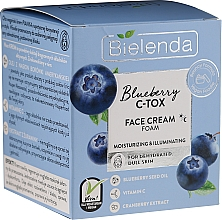 Perfumería y cosmética Crema espumosa facial hidratante y aclaradora - Bielenda Blueberry C-Tox Face Cream