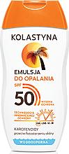 Perfumería y cosmética Emulsión protectora solar con pantenol, resistente al agua SPF50 - Kolastyna
