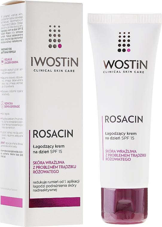 Crema facial calmante para pieles con rasácea - Iwostin Rosacin Soothing Day Cream Against Redness SPF 15 — imagen N1