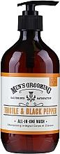 Perfumería y cosmética Gel de ducha-champú con extacto de cardo mariano - Scottish Fine Soaps Men's Grooming Thistle & Black Pepper All-In-One Wash