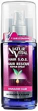 Perfumería y cosmética Spray reparador de cabello con proteínas de trigo y extracto de ginseng - Natur Vital Hair Rescue Repair Spray