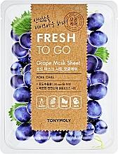 Perfumería y cosmética Mascarilla facial refrescante de tejido con extracto de uva - Tony Moly Fresh To Go Mask Sheet Grape