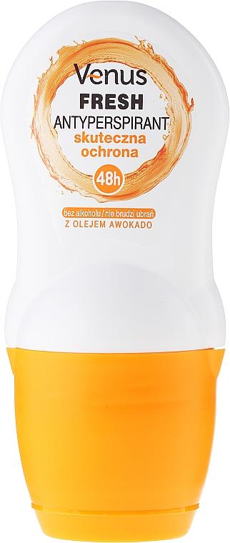 Desodorante antitranspirante roll-on con aceite de aguacate, sin alcohol - Venus Antyperspirant Roll-On Fresh
