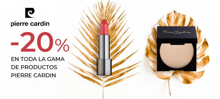 Rebajas del 20% en toda la gama de productos de Pierre Cardin. Los precios indicados tienen el descuento aplicado