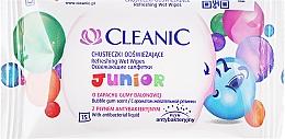Perfumería y cosmética Toallitas húmedas antibacterianas refrescantes, aroma chicle, 15uds. - Cleanic Junior Wipes