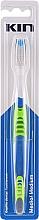 Perfumería y cosmética Cepillo dental de dureza media, verde - Kin Medium