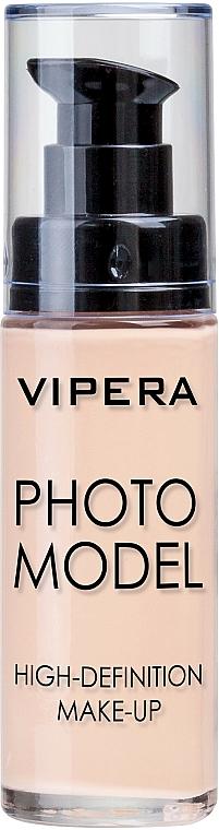 Base de maquillaje alisante y revitalizante de larga duración con efecto mate - Vipera Photo Model High-Definition Make-Up