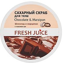 Perfumería y cosmética Exfoliante corporal de azúcar con chocolate y mazapán - Fresh Juice Chocolate and Marzipan