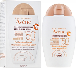Perfumería y cosmética Fluido mineral con color para rostro con protección solar - Avene Eau Thermale Tinted Mineral Fluid SPF 50+