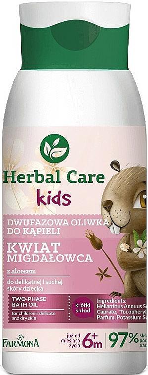 Aceite de baño bifásico con jugo de aloe vera y flor de almendro - Farmona Herbal Care Kids