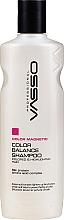 Perfumería y cosmética Champú para cabello teñido con proteína de seda y aminoácido - Vasso Professional Color Balance Shampoo
