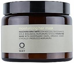 Perfumería y cosmética Mascarilla capilar hidratante con aceite de avellana, bote de vidrio - Rolland Oway Moisturizing