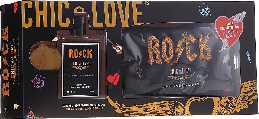 Chic&Love Rock - Set (eau de toilette/100ml + neceser)
