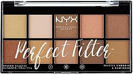 Perfumería y cosmética Paleta de sombras de ojos, 10 colores - NYX Professional Makeup Perfect Filter Shadow Palette