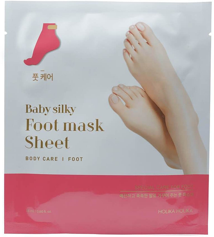 Mascarilla para pies con aceite de aguacate y manteca de karité - Holika Holika Baby Silky Foot Mask Sheet