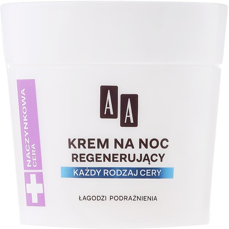 Crema facial con aceite de argán - AA Vascular Skin Regenerating Night Cream — imagen N2