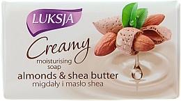 Perfumería y cosmética Jabón en barra con almendras y manteca de karité - Luksja Creamy Almond Shea Butt Soap