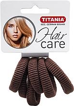 Perfumería y cosmética Gomas de pelo, color marrón, 6uds. - Titania