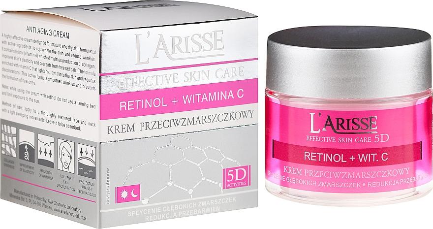 Crema facial antiedad con retinol y vitamina C - Ava Laboratorium L'Arisse 5D Anti-Wrinkle Cream Retinol + Vitamin C