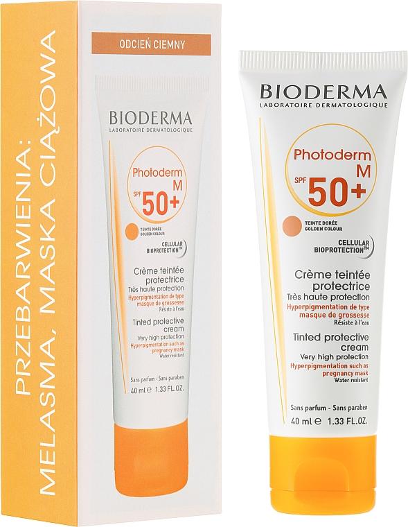Crema protectora solar con extracto de regaliz para pieles hiperpigmentadas - Bioderma Photoderm M SPF 50+ — imagen N1