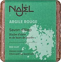 Perfumería y cosmética Jabón de Aleppo con arcilla roja - Najel Aleppo Soap with Red Clay
