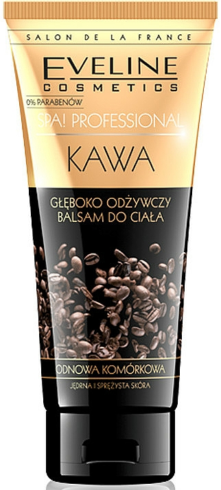 Bálsamo corporal con aceite de argán y coco, aroma a café - Eveline Cosmetics Spa Professional