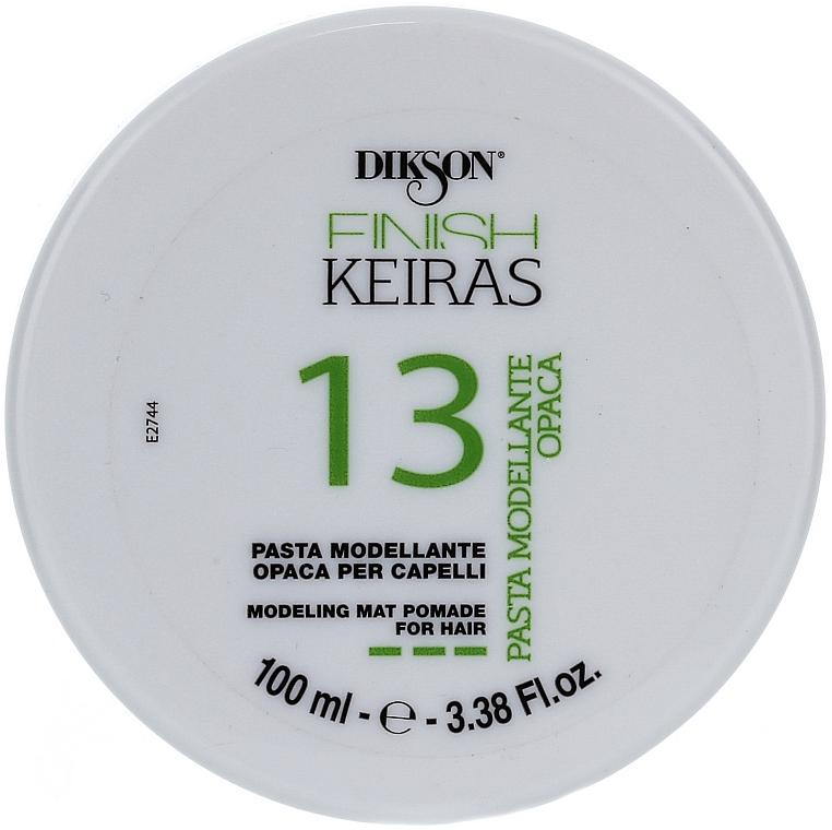 Pasta moldeadora para cabello de fijación fuerte y efecto mate - Dikson Finish Keiras Pasta Modellante Opaca 13