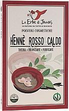 Perfumería y cosmética Polvo colorante de cabello de henna, rojo cálido - Le Erbe di Janas Red Henna Hot Shades