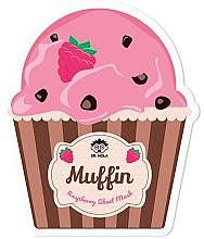 Perfumería y cosmética Mascarilla facial de tejido revitalizante con extracto de frambuesa - Dr. Mola Muffin Raspberry Sheet Mask