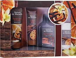 Perfumería y cosmética Nature de Marseille Orange And Vanilla Cosmetics Set - Set corporal con aroma a naranja y vainilla (gel de ducha/150ml + crema de manos/60ml + bálsamo corporal/100ml + jabón/95g)