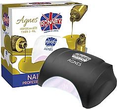 Perfumería y cosmética Lámpara LED para manicura, negra - Ronney Profesional Agnes LED 48W (GY-LED-032)