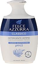 Perfumería y cosmética Jabón de higiene íntima con ácido láctico y glicerina, aroma fresco - Felce Azzurra Classic Intimate Wash