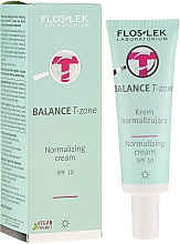 Perfumería y cosmética Crema facial zona T equilibrante con extracto de castaño de indias, levadura y vitamina B - FlosLek Balance T-Zone Normalizing Day Cream SPF 10