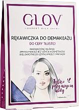 Perfumería y cosmética Guante desmaquillante para pieles grasas, lila - Glov Expert Oily and Mixed Skin
