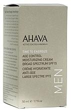 Perfumería y cosmética Crema facial hidratante para hombres con aloe vera, SPF15 - Ahava Age Control Moisturizing Cream SPF15