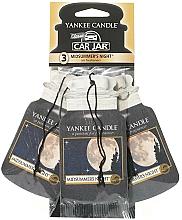 Perfumería y cosmética Set ambientador de coche con aroma almizcle, pachulí, salvia - Yankee Candle Car Jar Midsummers Night