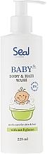 Perfumería y cosmética Gel de ducha y champú hipoalergénico para bebés con aceite de babasú - Seal Cosmetics Baby Body And Hair Wash Gel