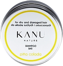Perfumería y cosmética Champú sólido con aroma a piña colada, en caja de metal - Kanu Nature Shampoo Bar Pina Colada For Dry And Damaged Hair