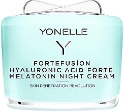 Perfumería y cosmética Crema de noche con ácido hialurónico - Yonelle Fortefusion Hyaluronic Acid Forte Melatonin Night Cream