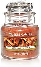 Perfumería y cosmética Vela aromática en tarro de cristal, rama de canela - Yankee Candle Cinnamon Stick